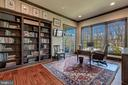 Private Library with Walls of Built-In's - 8429 BROOK RD, MCLEAN