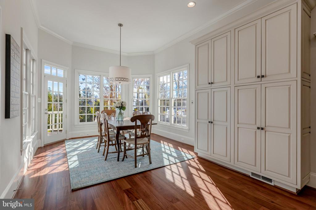 Lovely Breakfast Room with Additional Storage - 8429 BROOK RD, MCLEAN