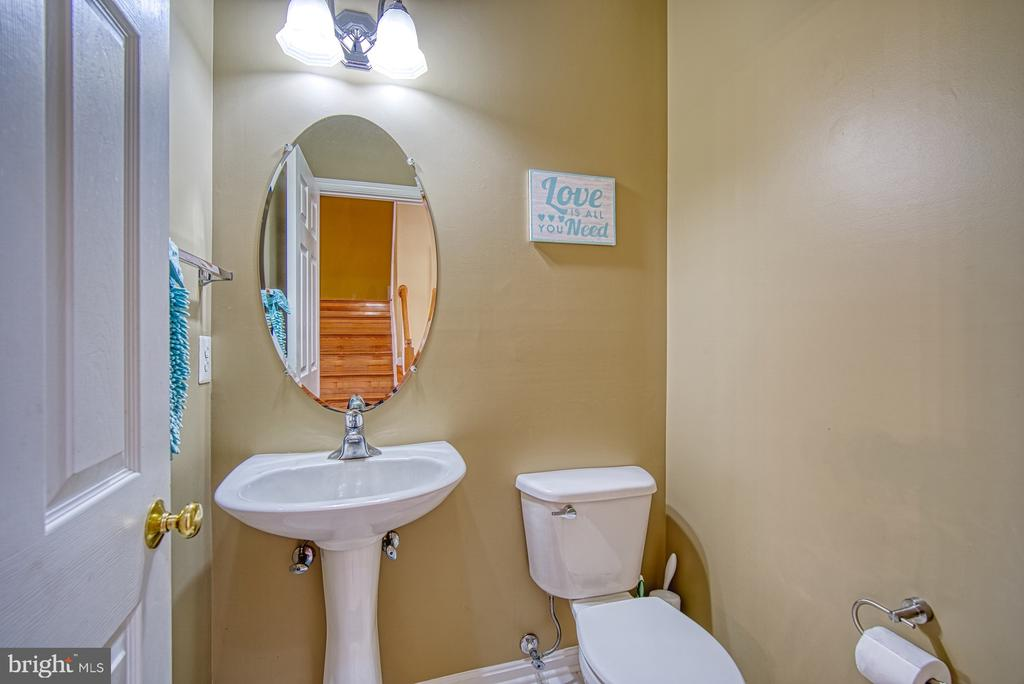 Half Bath on Lower Level - 22710 DEXTER HOUSE TER, ASHBURN