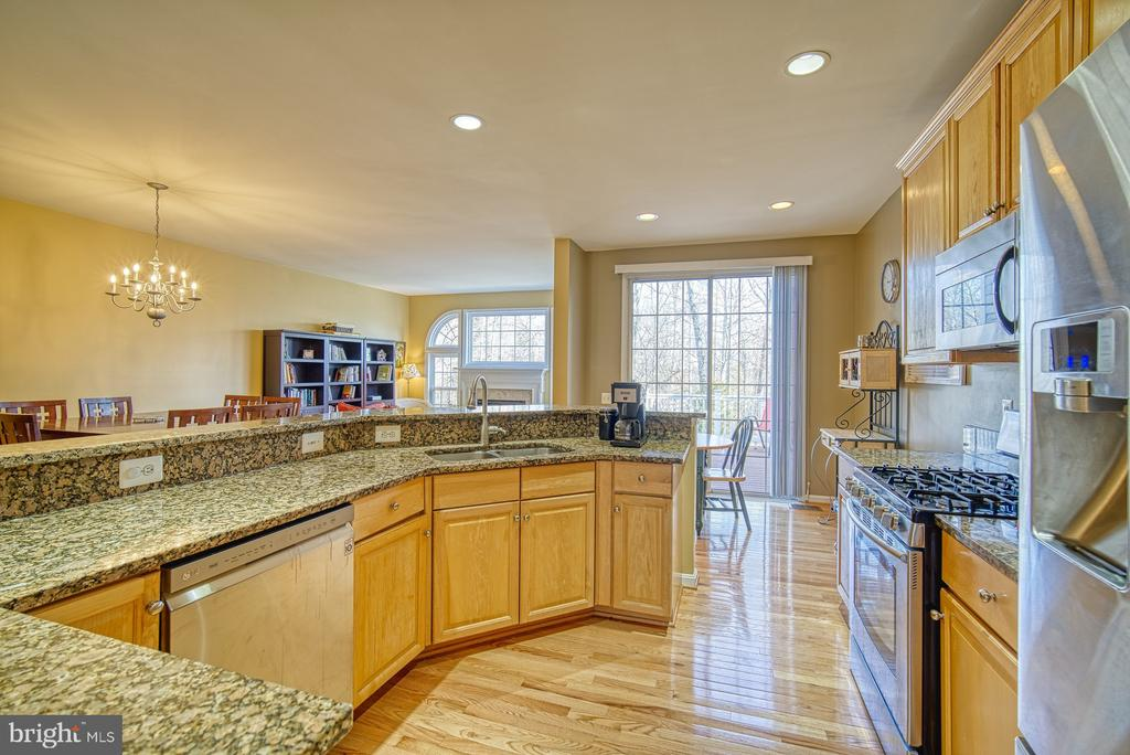 Kitchen has Gorgeous Granite Countertops - 22710 DEXTER HOUSE TER, ASHBURN