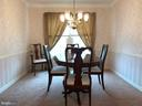 Formal dining room for entertaining - 20405 PERIDOT LN, GERMANTOWN