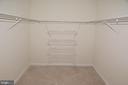 Large walk-in master closet - 19375 CYPRESS RIDGE TER #107, LEESBURG