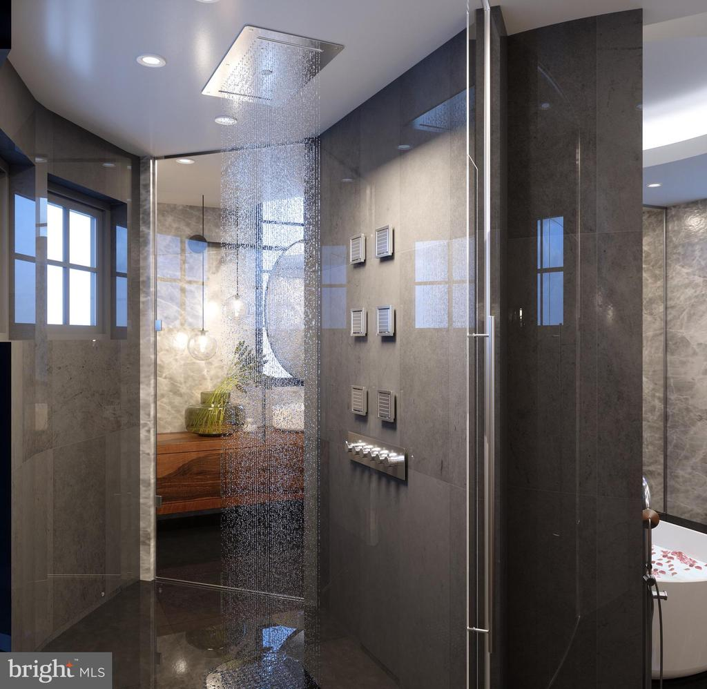Master Bath Shower - Rendering - 1171 CHAIN BRIDGE RD, MCLEAN