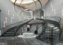 Foyer / Reception Ellipse - Rendering - 1171 CHAIN BRIDGE RD, MCLEAN