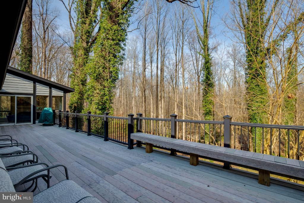 Upper level deck - 8651 BLACK FOREST CIR, FAIRFAX
