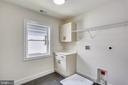 Laundry Room with Hook-ups, Utility Sink & Storage - 18609 STRAWBERRY KNOLL RD, GAITHERSBURG