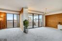 Floor-to-ceiling sliding glass doors-balcony. - 4141 N HENDERSON RD #1011, ARLINGTON