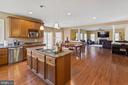 Kitchen with Breakfast & Family Room view - 8108 SPRUCE VALLEY LN, CLIFTON