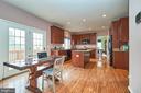 Breakfast room with hardwood floor - 5947 TUMBLE CREEK CT, HAYMARKET