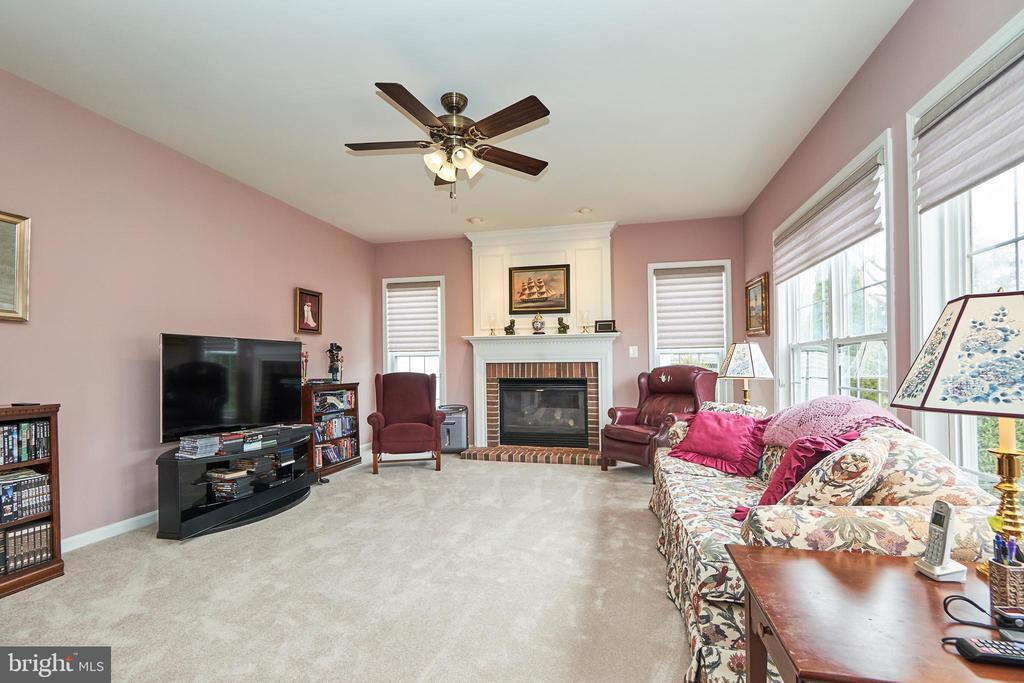 Family room adjoins breakfast area and kitchen - 5947 TUMBLE CREEK CT, HAYMARKET