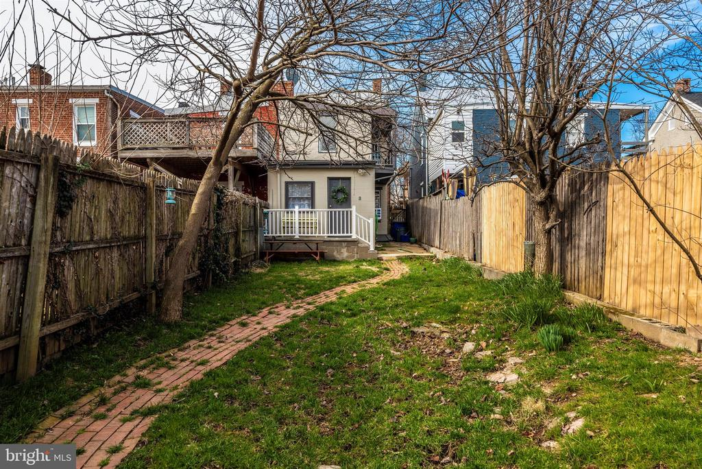 View of Fenced Backyard towards House - 10 N WISNER ST, FREDERICK