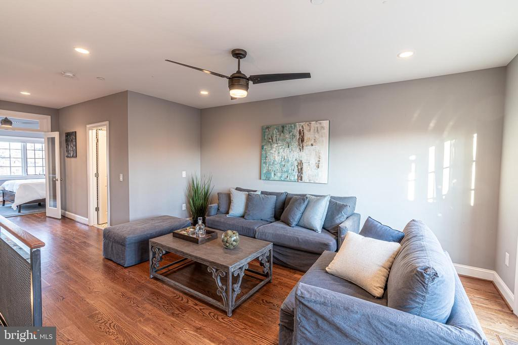 Family Room with Walkout to the Roof Deck - 1739 ALICEANNA ST, BALTIMORE