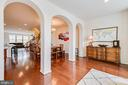 ARCHWAY LEADING TO DINING AREA - 6963 COUNTRY CLUB TER, NEW MARKET
