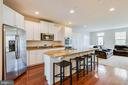 GOURMET KITCHEN W/ ISLAND AND GRANITE COUNTERS - 6963 COUNTRY CLUB TER, NEW MARKET