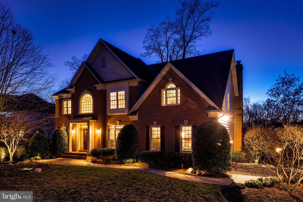 Classic Exterior With an Abundance of Lighting - 12110 WALNUT BRANCH RD, RESTON