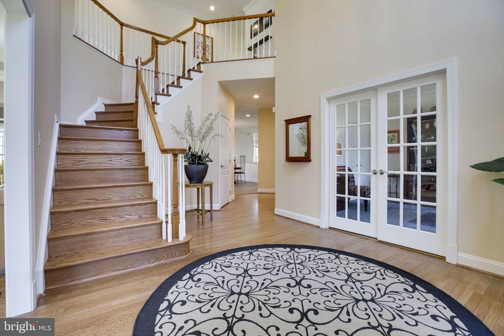 Foyer with View of Library - 12110 WALNUT BRANCH RD, RESTON