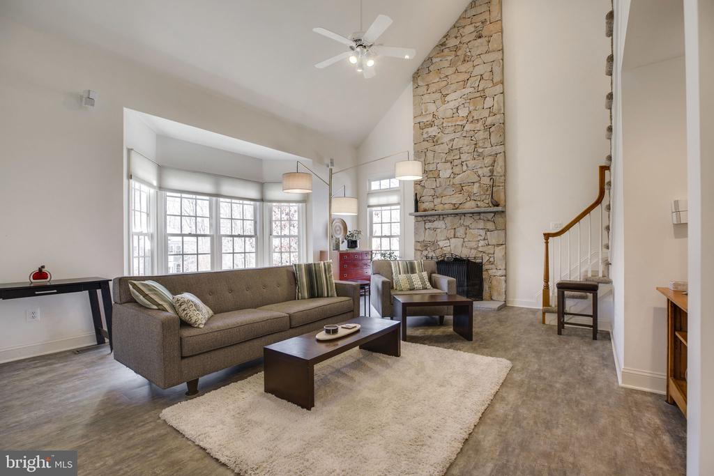 Fabulous Stone Fireplace - 12110 WALNUT BRANCH RD, RESTON