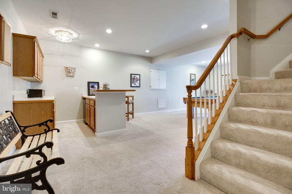 Lower  Level with Walk Out to Patio - 12110 WALNUT BRANCH RD, RESTON