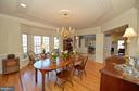 Dining room view to foyer & living room - 16080 GOLD CUP LN, PAEONIAN SPRINGS