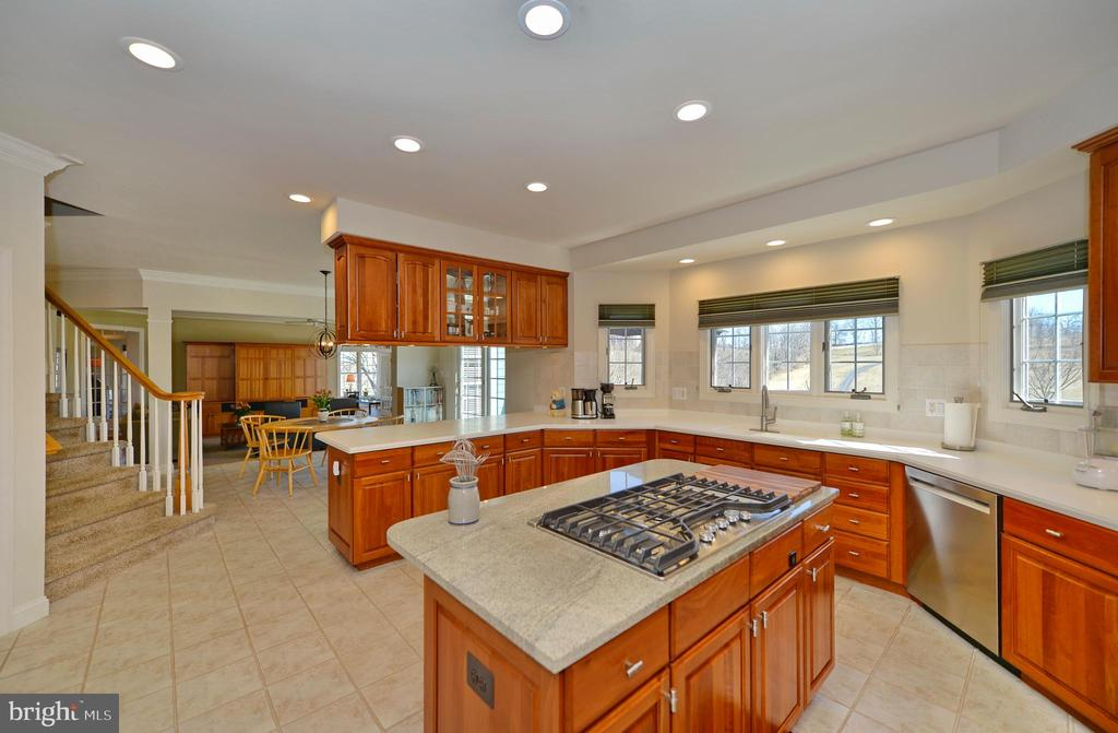 Kitchen view to family room - 16080 GOLD CUP LN, PAEONIAN SPRINGS