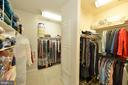 Master bedroom's huge walk-in closet - 16080 GOLD CUP LN, PAEONIAN SPRINGS