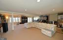 Lower level walk-out recreation room - 16080 GOLD CUP LN, PAEONIAN SPRINGS