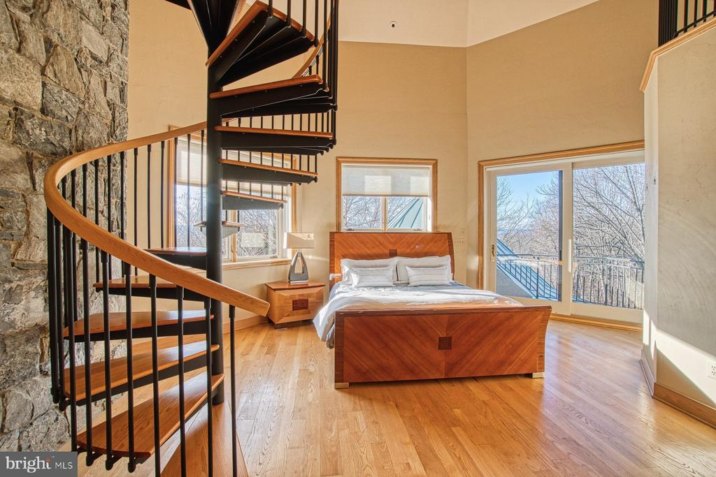 Bedroom 3 includes a spiral staircase to its tower - 40310 HURLEY LN, PAEONIAN SPRINGS