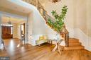 Double Height Foyer with Grand Stairway - 9110 DARA LN, GREAT FALLS