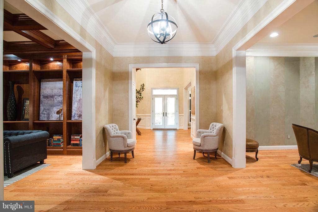 Entrances to Formal Living Room and Library - 9110 DARA LN, GREAT FALLS