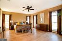 Main Level Master Bedroom or Private Guest Suite - 9110 DARA LN, GREAT FALLS
