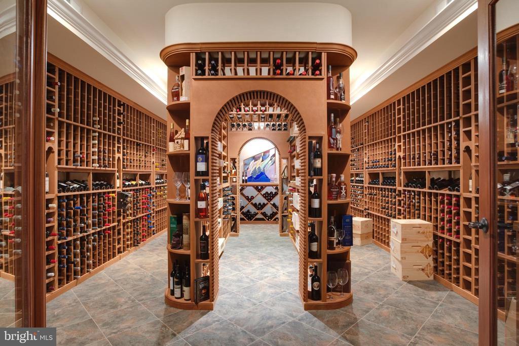 Exquisite 5000 Bottle Custom Wine Cellar - 9110 DARA LN, GREAT FALLS