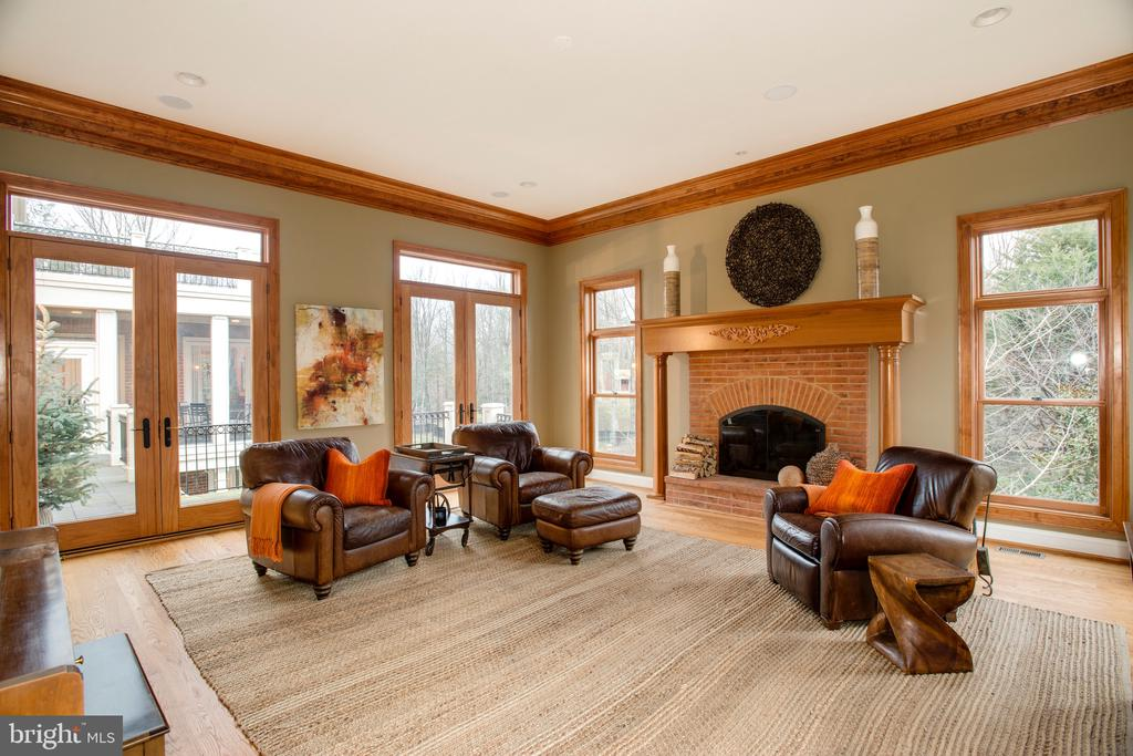 2 Sets of Double Doors Lead to Wrap-Around Terrace - 9110 DARA LN, GREAT FALLS