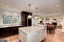 Gourmet Kitchen with island - 7600 GLENDALE RD, CHEVY CHASE