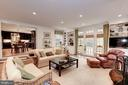 Family Room adjoining Kitchen with Fireplace - 7600 GLENDALE RD, CHEVY CHASE