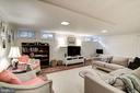 Awesome Lower Level Recreation Room - 7600 GLENDALE RD, CHEVY CHASE