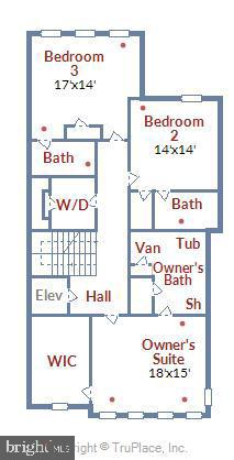 Floor Plan, Level 3 - 44665 BRUSHTON TER, ASHBURN