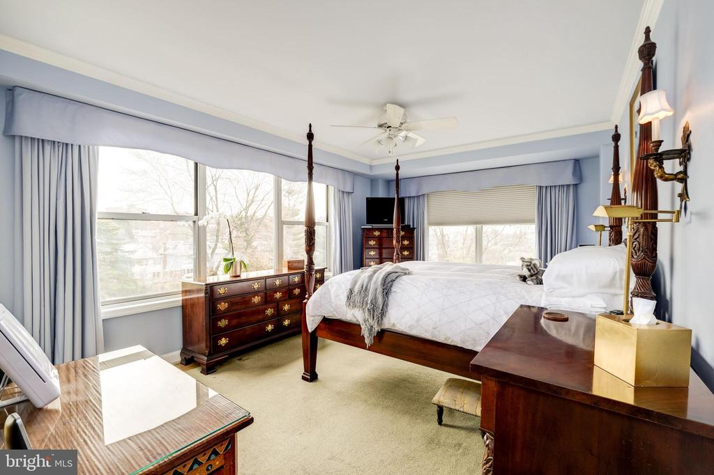 Master corner bedroom with Cathedral views - 3900 WATSON PL NW #A-2FG, WASHINGTON