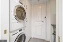 Separate laundry area with full size Bosch W/D - 3900 WATSON PL NW #A-2FG, WASHINGTON