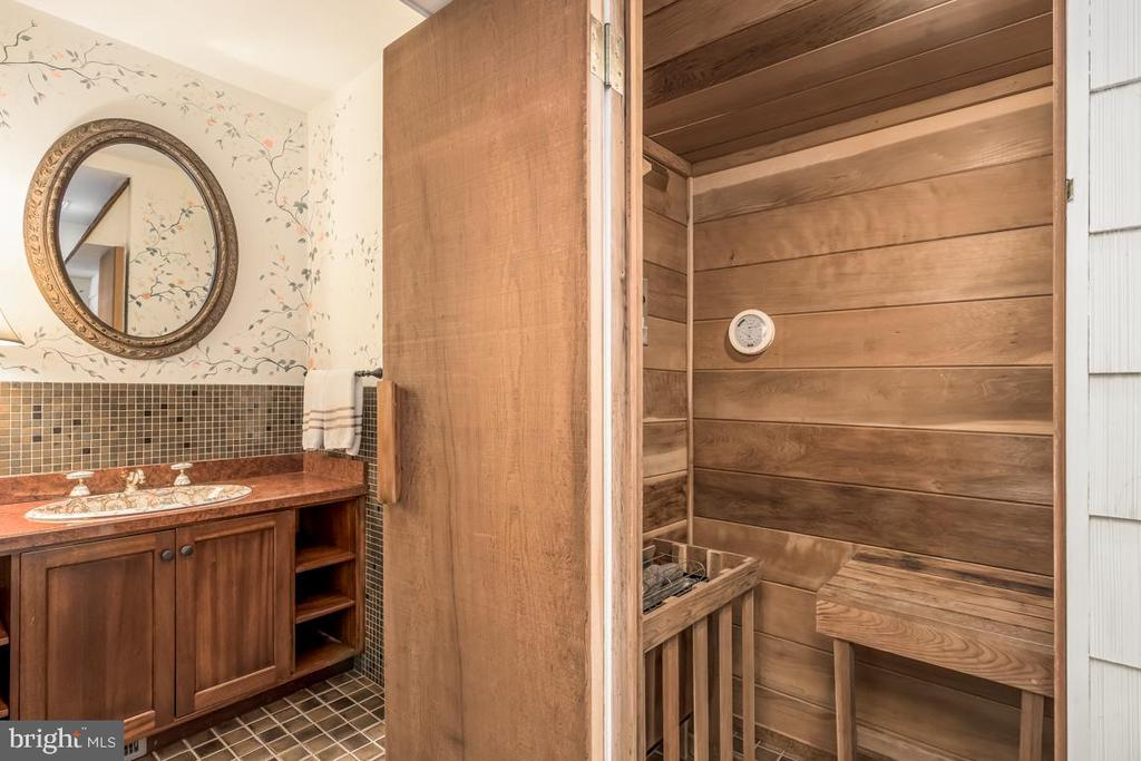 Relax and rejuvenate in the sauna. - 4921 E CHALK POINT RD, WEST RIVER