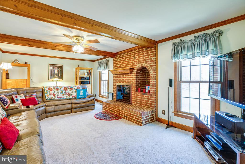 Family Room with wood burning fireplace - 9602 TREEMONT LN, SPOTSYLVANIA