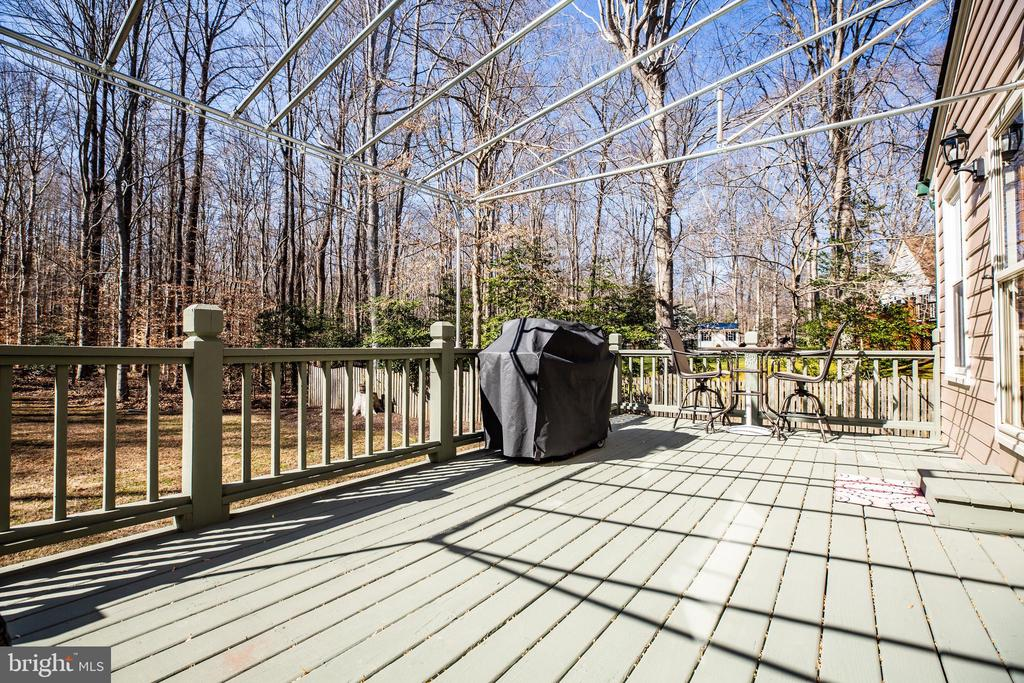Rear deck with awning - 9602 TREEMONT LN, SPOTSYLVANIA