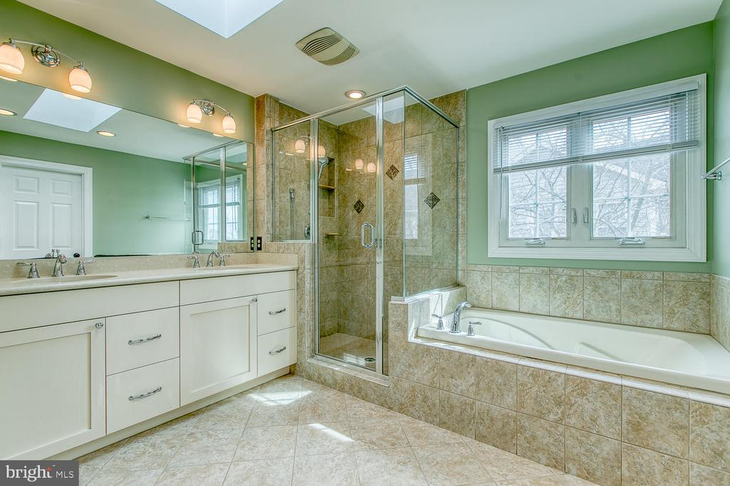 Updated bathroom in the owner's suite - 43976 BRUCETON MILLS CIR, ASHBURN