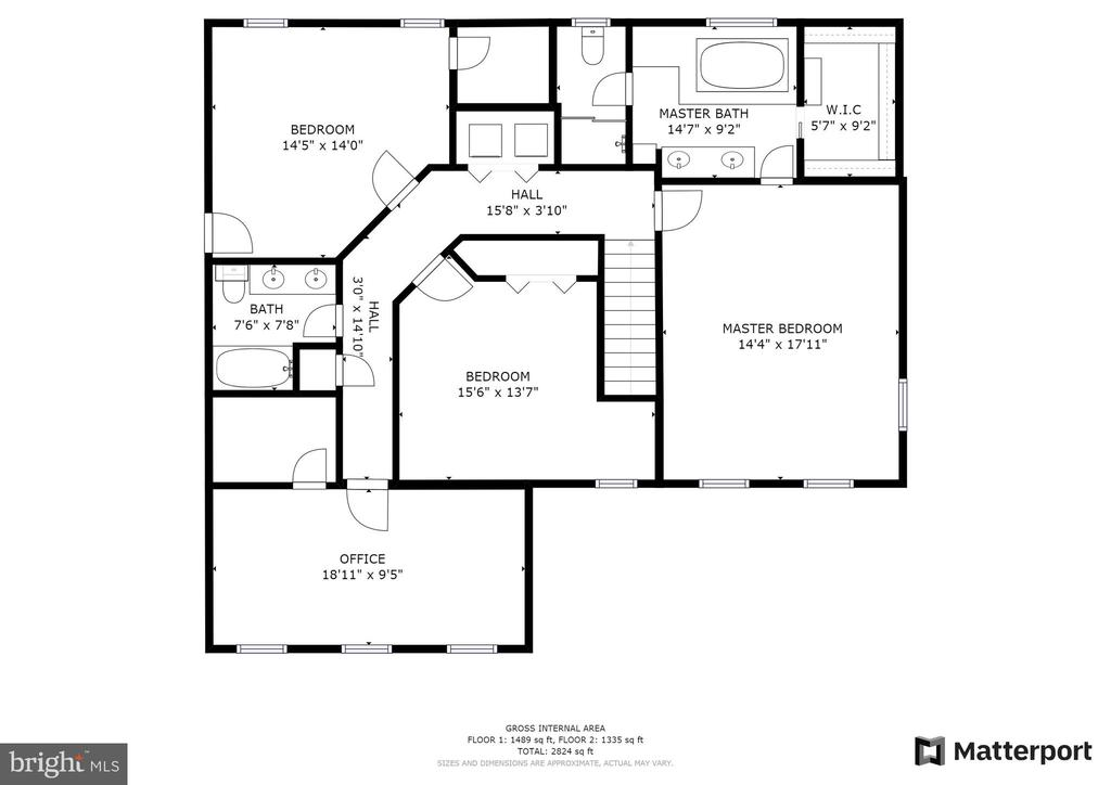 Upper Level floor plan - 9602 TREEMONT LN, SPOTSYLVANIA