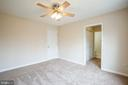 Master bedroom with master bath and 2 closets - 7517 MATTAPONI, KING GEORGE