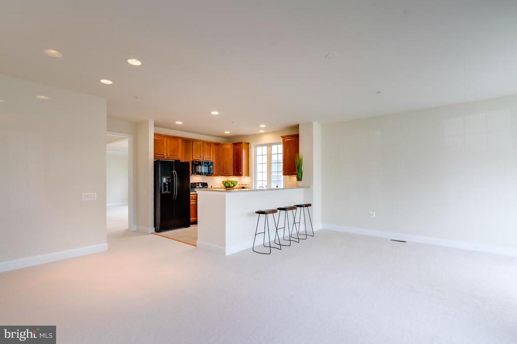 view from family room toward kitchen - 75 DENISON ST, FREDERICKSBURG