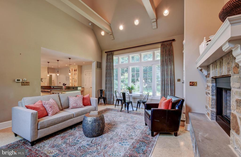 Beams and recessed lighting enhance space - 212 GOODALE RD, BALTIMORE