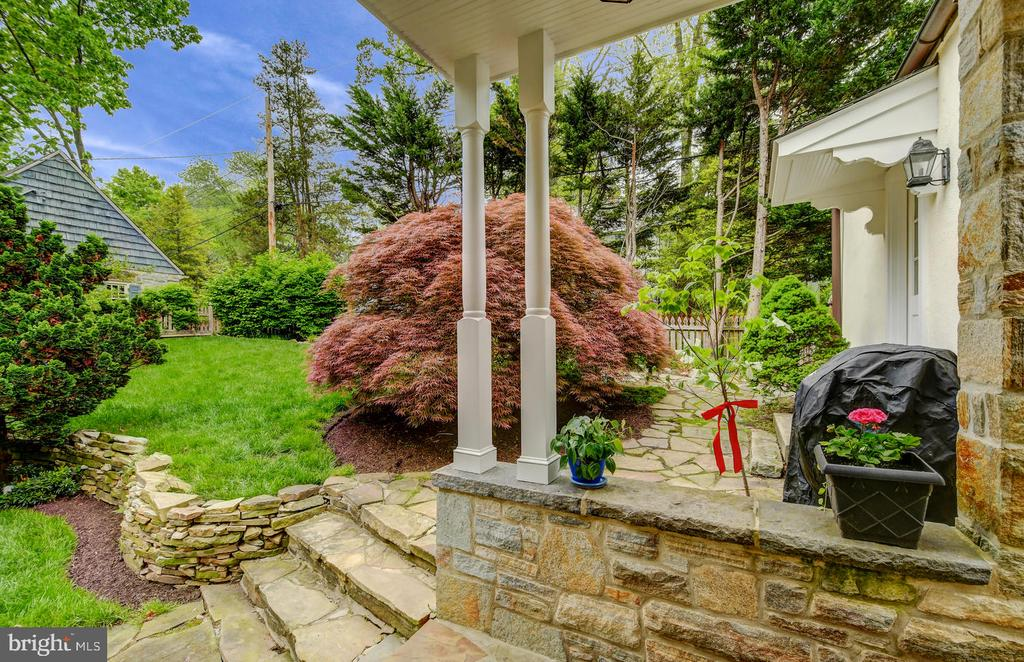 Tons of stacked stone walls and patios - 212 GOODALE RD, BALTIMORE
