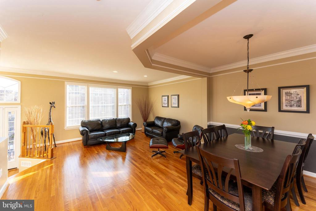 Dining area and living room - 1911 LOGAN MANOR DR, RESTON