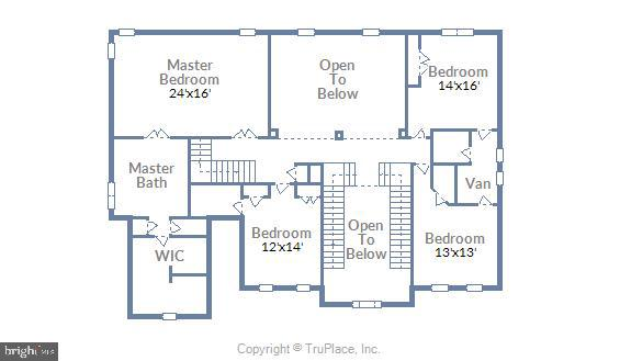 Upper level floor plan - 44306 KENTMERE CT, ASHBURN