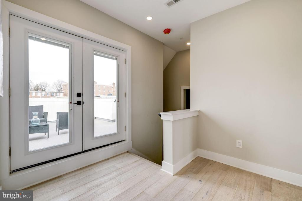 Upstairs with French Doors  out to the roof deck - 1821 I STREET NE #11, WASHINGTON
